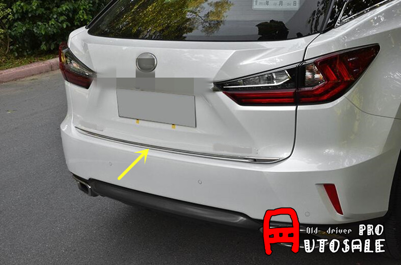 For <font><b>LEXUS</b></font> <font><b>RX200t</b></font> RX450h 2016 1pcs Stainless Rear Gate Trunk Lid Cover Trim Chrome Auto Accessories !!!New Arrival image