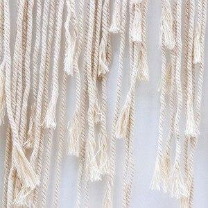 Image 5 - OurWarm Boho Decorazione di Cerimonia Nuziale Macrame di Nozze Sfondo 100x115cm Corda di Cotone Photo Booth Scenografia Macrame di Attaccatura di Parete