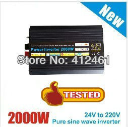 цена на DHL FedEx UPS free shipping 2000W puhdas sini invertteri 2000W Power Inverter Pure Sine Wave DC 12V to AC 220V Peak Power 4000W