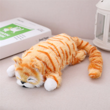 1pcs hot creative Electronic Rolling Cute cat Plush Toy Soft Kawaii animal stuffed toy Creative Christmas gift for children girl