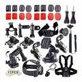Gopro go pro acessórios conjunto para gopro hero 4 3 + 3 2 sj4000 sjcam sj5000 sj6000 sj7000 para xiaomi yi wifi action camera set kit
