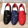 men casual print face party stage dress soft suede leather shoes breathable slip on flats shoe lazy driving zapatos loafers man