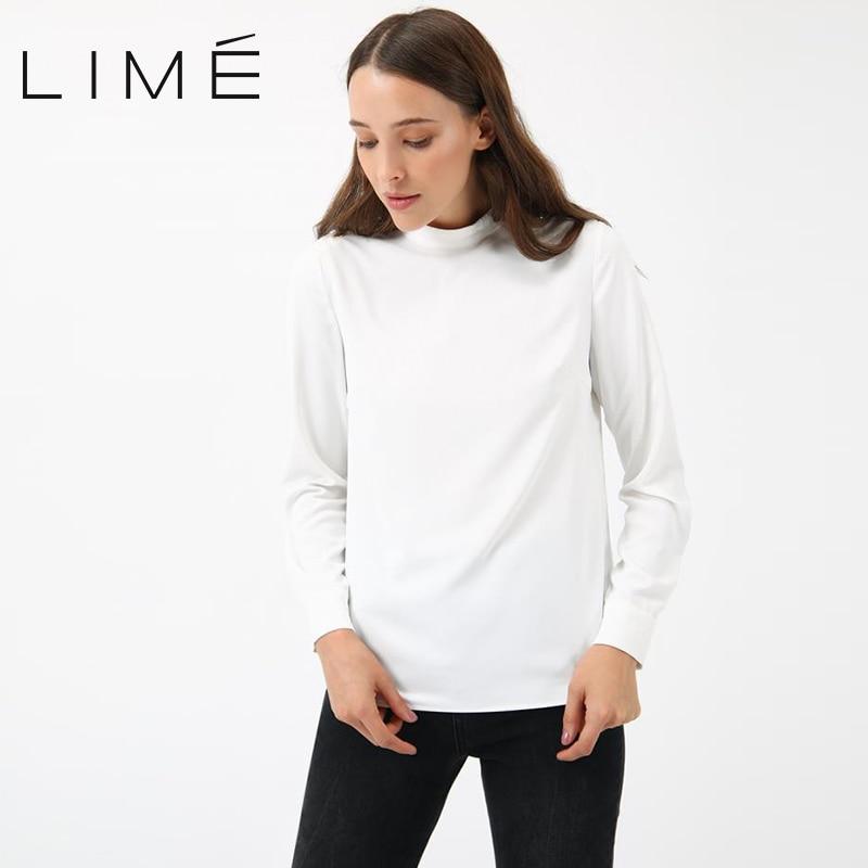 Фото - Blouse LIME woman 253|1810|989 contrast lace keyhole back blouse