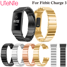 Steel strap For Fitbit Charge 3 frontier/classic wrist strap band For Fitbit Charge 3 smart watch bracelet+connector accessories все цены