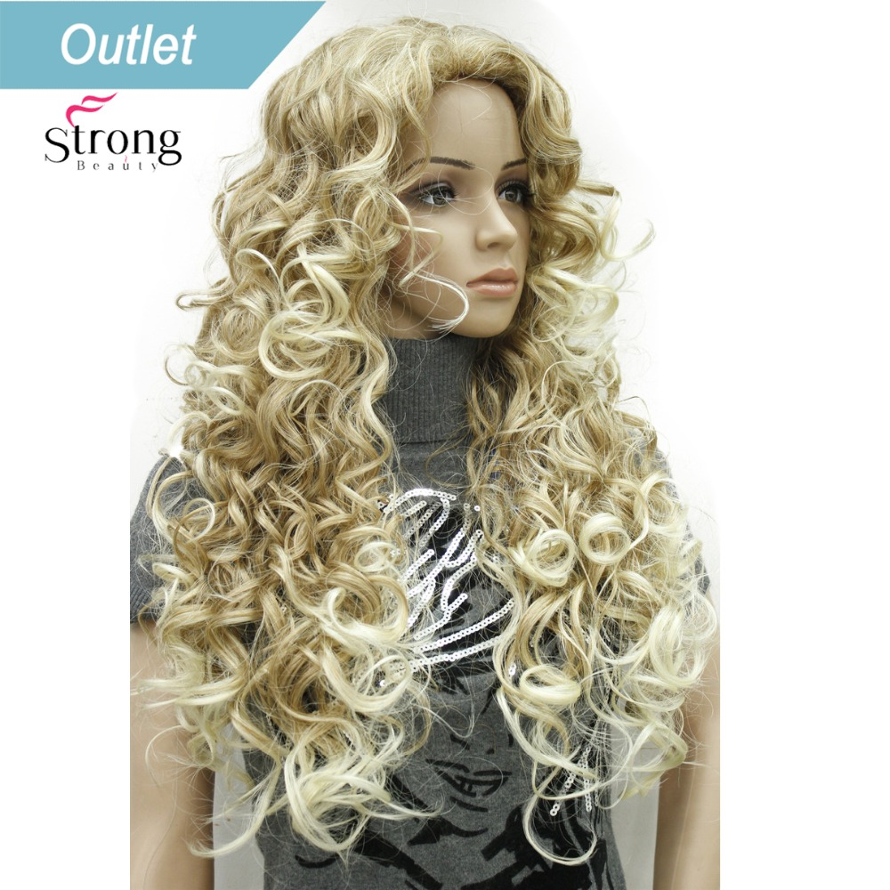 StrongBeauty 26inch Long Wavy Blonde Mix Synthetic Wig Full Wigs For Women COLOUR CHOICES