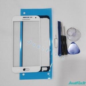 E5 cristal exterior para Samsung Galaxy E5 E500 E500F E500M, Alpha G850 cristal frontal pantalla táctil Panel digitalizador Sensor reemplazar vidrio