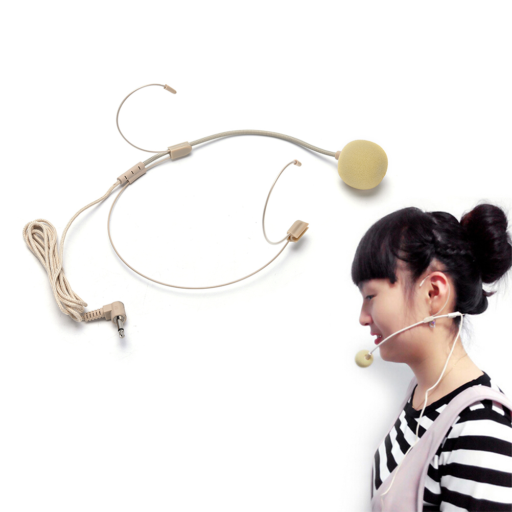 1*Dual Ear Hook Headset Head Microphone Headset Microphone With Mini Connector For Shure Wireless Body-Pack Transmitter