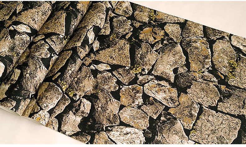 W stylu Vintage 3D skała kamień tapety wodoodporna na tle salon pcv tapeta w rolce stereoskopowe wygląd ściany Papel De Parede
