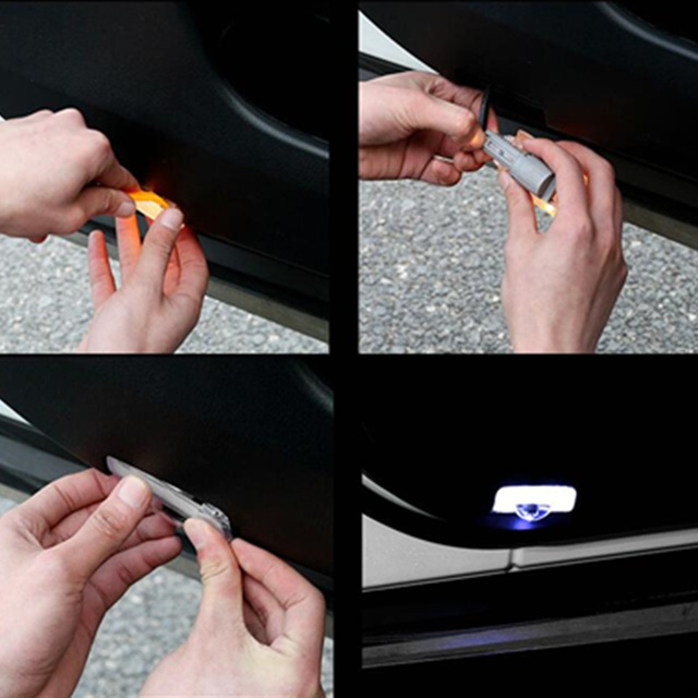 2X para Subaru BRZ Forester SJ SK Outback Legacy GP GJ XV Inpreza Tribeca coche puerta Logo luces Proyector láser sombra fantasma lámpara