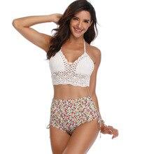 Swimsuit Women Bikini Hand-made Crochet Set Two-Piece Suits Wholesale Drop-shipping