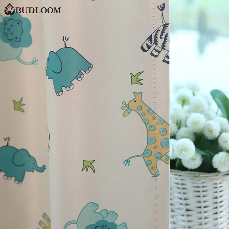 Budloom animal curtains for baby room blackout cartoon curtains for bedroom kids room elephant curtains lovely