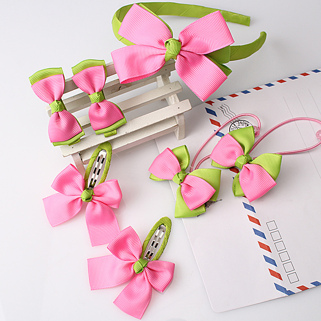 Children's Colorful Hairpins and Hairbands Set