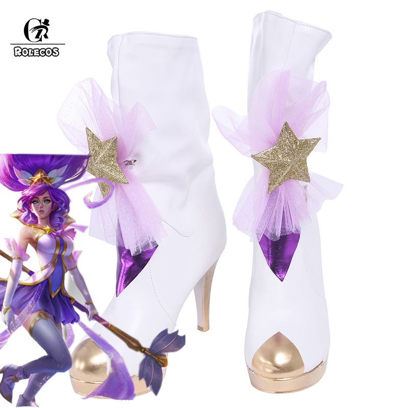 ROLECOS LOL Game Cosplay Costume Guardian Magical Girl Janna Cosplay Shoes Women Shoes Janna Cosplay Shoes