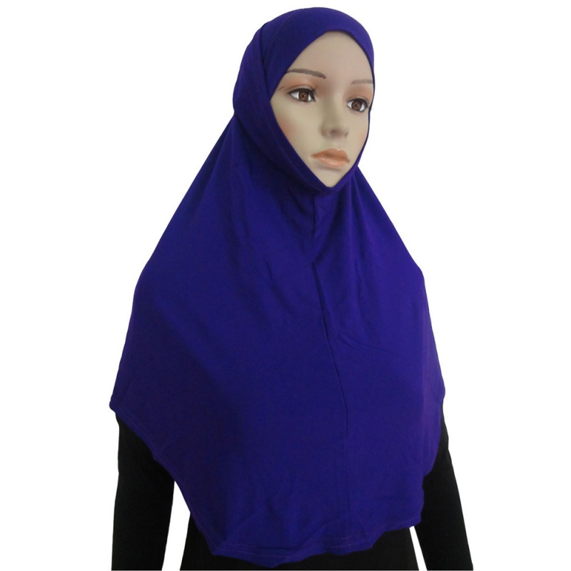 Women Muslim Lady Girls Two Piece Al Amira Hijab Plain Hijabs Cotton Blend Fashion