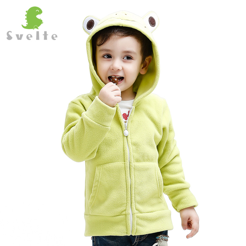 Svelte Brand for 2017 Spring Fall Children Kids Girls Boys Fleece Hooded Jacket Hoody Clothes Cartoon Animal Sweatshirts Jersey