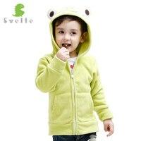 Svelte Brand For 2017 Spring Fall Children Kids Girls Boys Fleece Hooded Jacket Hoody Clothes Cartoon