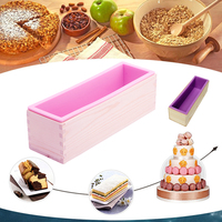 Rectangle Toast Loaf Bread Soap Cake Wooden Box Silicone Mold Mould DIY Making D14