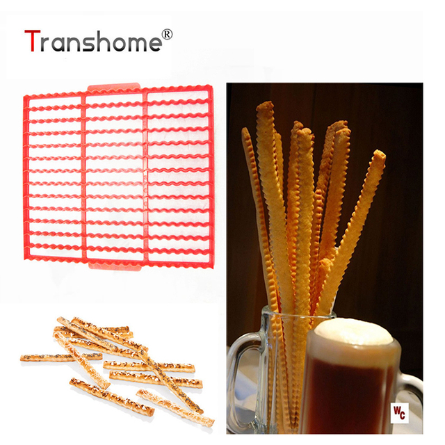 Transhome Gingerbread Cookie Cutters 39 Even Finger Biscuit Mold Plastic Wavy Cutting Sheet Fondant Biscuits Cutter Baking Tools