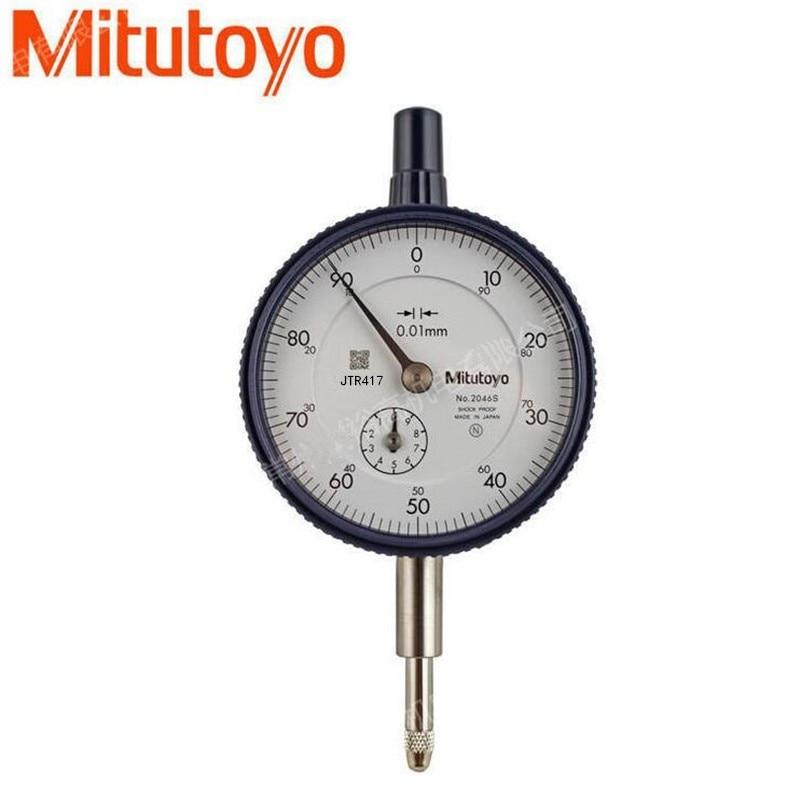 Mitutoyo Digital Dial Indicator 2046S 0-10mm X 0.01mm Gauge Ferramentas Micrometer Measuring Tools Inspectors Measuring Chamber dial bore gauge 50 160mm 0 01mm center ring dial indicator micrometer gauges measuring tools