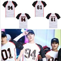 2016 New Wind Kpop EXO T Shirts EXO School Kpop Tops Tees Should Help Serving Love