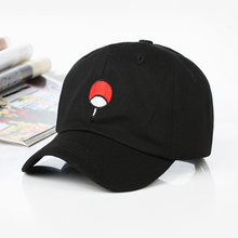 new Japanese Anime Naruto Dad Hat Uchiha Family Logo hat 100% Cotton Embroidery Baseball Caps Black Snapback Dropshipping