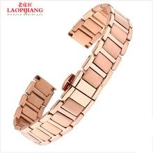 Laopijiang reloj de oro rosa pecision correa fit hombres y mujeres reloj accesorios 14 / 16 mm