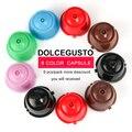 Капсулы для многоразового пользования  3/9 шт  для Dolce Gusto nesкафе  6 видов цветов  Dolce Gusto  1 ложка + 1 кисть