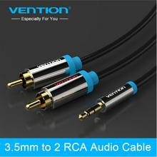 black 2 rca aux cables 3.5mm male to male audio cable 3.5mm jack rca stereo digital audio cables vention