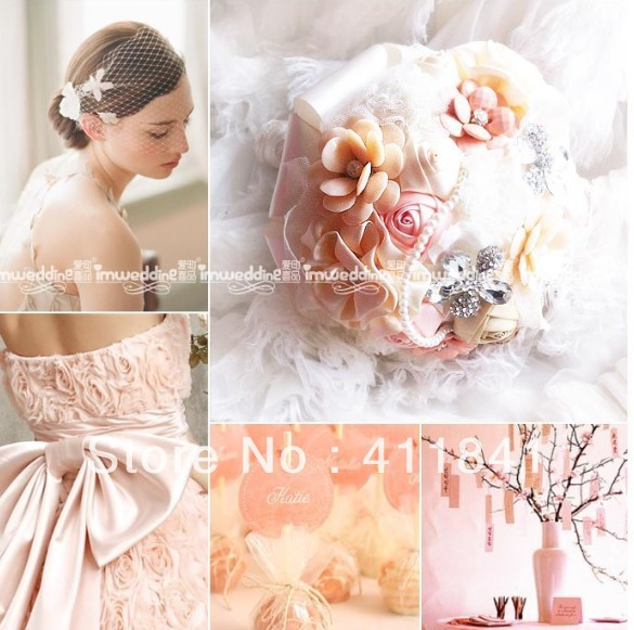 Ems бесплатная доставка, Белое серебро брошь бисероплетение невесты ручной цветы / свадебный букет / декоративные цветы с кристаллами