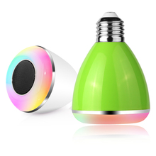 LED colorful smart home RGB+White wireless Bluetooth 4.0 music light bulb wireless remote control energy-saving bulb