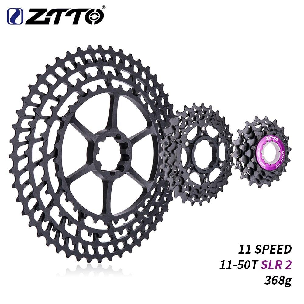 ZTTO 11 s 11-т 50 t SLR 2 Cassette MTB 11 speed Wide Ratio UltraLight 368 г CNC Freewheel горный велосипед запчасти для X 1 9000