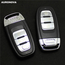 AURONOVA New Smart Key Shell for Audi A4 A5 A6 S4 S5 Q5 SQ5 2007 2008 2009 2010 2011 2012 2013 3 Buttons Remote Car Key Case DIY
