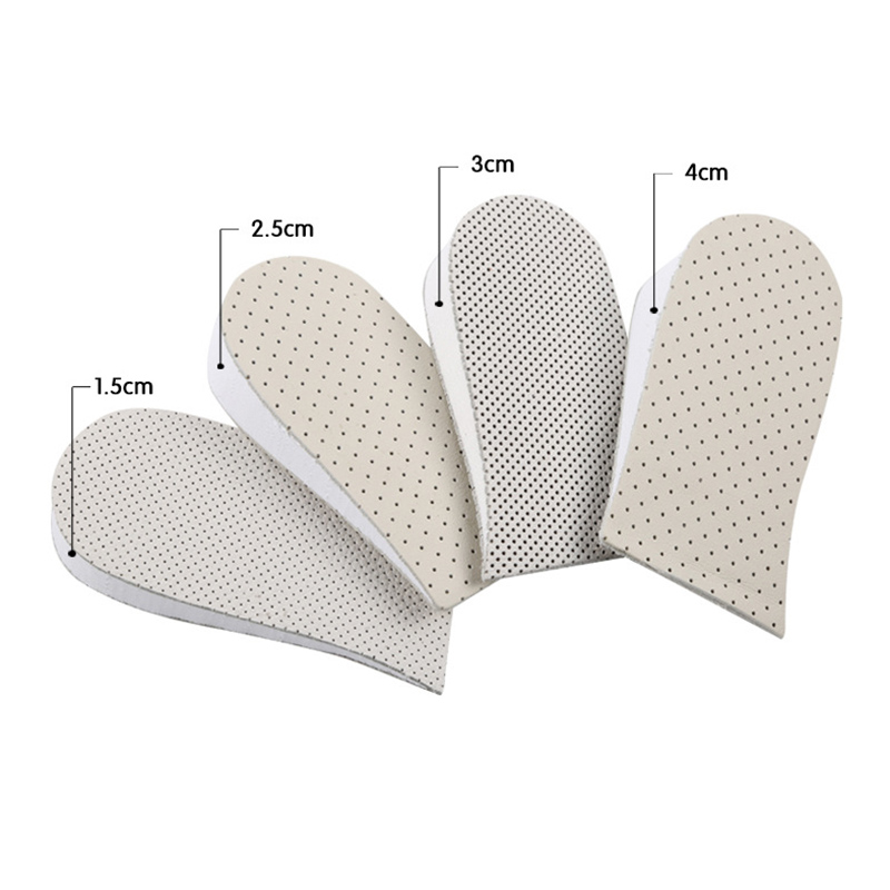 4cm Invisible Height Increase Insoles for Men Women Heel Half Insoles for shoes Pad Non-slip Cowhide height insole shoe inserts soumit pu invisible height increase insole for men women shoes inserts arch support lift taller increasing shoe insole pad soles