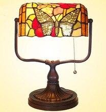 Европейский ретро настольная лампа витражи лампы E27 ночной свет спальни украшения, Yslc-35, Бесплатная доставка