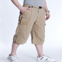 6XL 7XL Summer Casual Shorts Men Cotton Cargo Shorts With Big Pocket Loose Baggy Hip Hop Shorts Bermuda Military Male Clothing