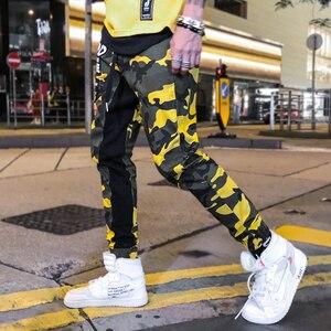 Image 2 - Pantaloni mimetici Uomini Pantaloni Hip Hop Camo Allentato Pantaloni stile harem Jogging Pantaloni Della Tuta Casual Moda Giovanile Streetwear Giallo Rosso Autunno