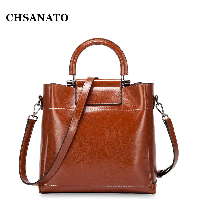 CHSANATO European And American Style Women Leather Handbags Luxury Bag Top-Handle Ring Tote Bag Designer Handbags High QualityCHSANATO European And American Style Women Leather Handbags Luxury Bag Top-Handle Ring Tote Bag Designer Handbags High Quality