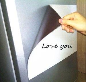 Image 3 - A3 magnético seco wipe quadro branco para geladeira adesivo 5 marcadores finos 1 eliminador geladeira ímã organizador planejador lembrete placa
