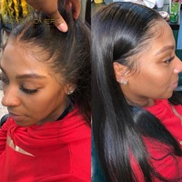 Straight 360 Lace Frontal Wig Bleached Knots Pre Plucked Hairline with Baby Hair Brazilian Remy Hair Human Hair Lace Front Wigs