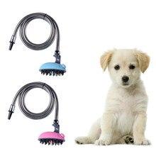 Multifuncional perro baño aerosol pet cat baño ducha rociador de agua de limpieza de baño pet pet animal aparato de masaje 2 colores
