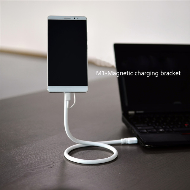 Cool 2-in-1 Charging Cable Magnetic Charging Bracket Holder For Samsung HTC LG Huawei Sony With Micro USB Port S0C71 T66
