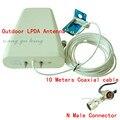 Al aire libre de la Antena 800-2500 mhz de frecuencia 3G 4G GSM CDMA DCS Exterior LPDA Direccional de la Antena de Señal refuerzo Repetidor + 10 m Cable