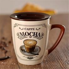 Grande Europeo Creativo taza de Café Taza de Té Tazas de Suministros de Arte de Porcelana Taza de Leche Taza de Té Personalizado Breve Ecológico Abastecido QQB1053