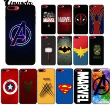 Yinuoda Marvel superhero logo Luxury Unique Design Phone Cover for iPhone 5 5Sx 6 7 7plus 8 8Plus X XS MAX XR