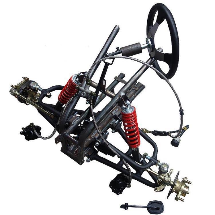 Atv Go Kart Karting Diy Motocicleta Eje Delantero Dirección Suspensión Estructura Soporte Swingarms Con Amortiguadores Freno