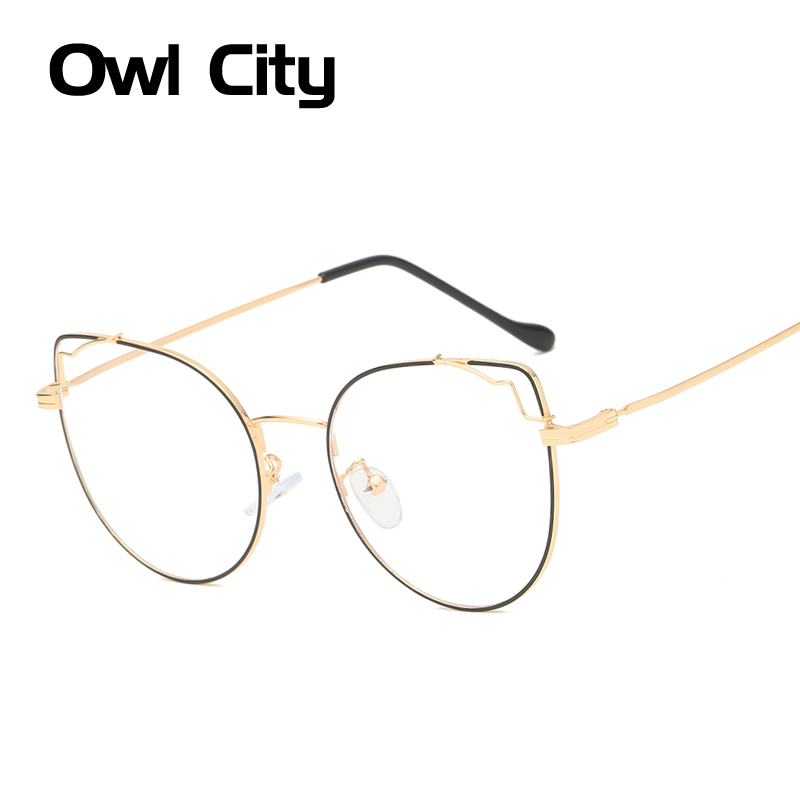 Cat Eye Eyewear Frames Women Optical Glasses Prescription Myopia Vintage Transparent Glasses Cateye Clear Lens Eyeglasses Frame