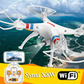 Syma X8w Wifi 2.4 G 4ch 6 Axis con 2MP cámara gran angular HD RC Quadcopter RTF helicóptero del abejón Go Pro aplicable