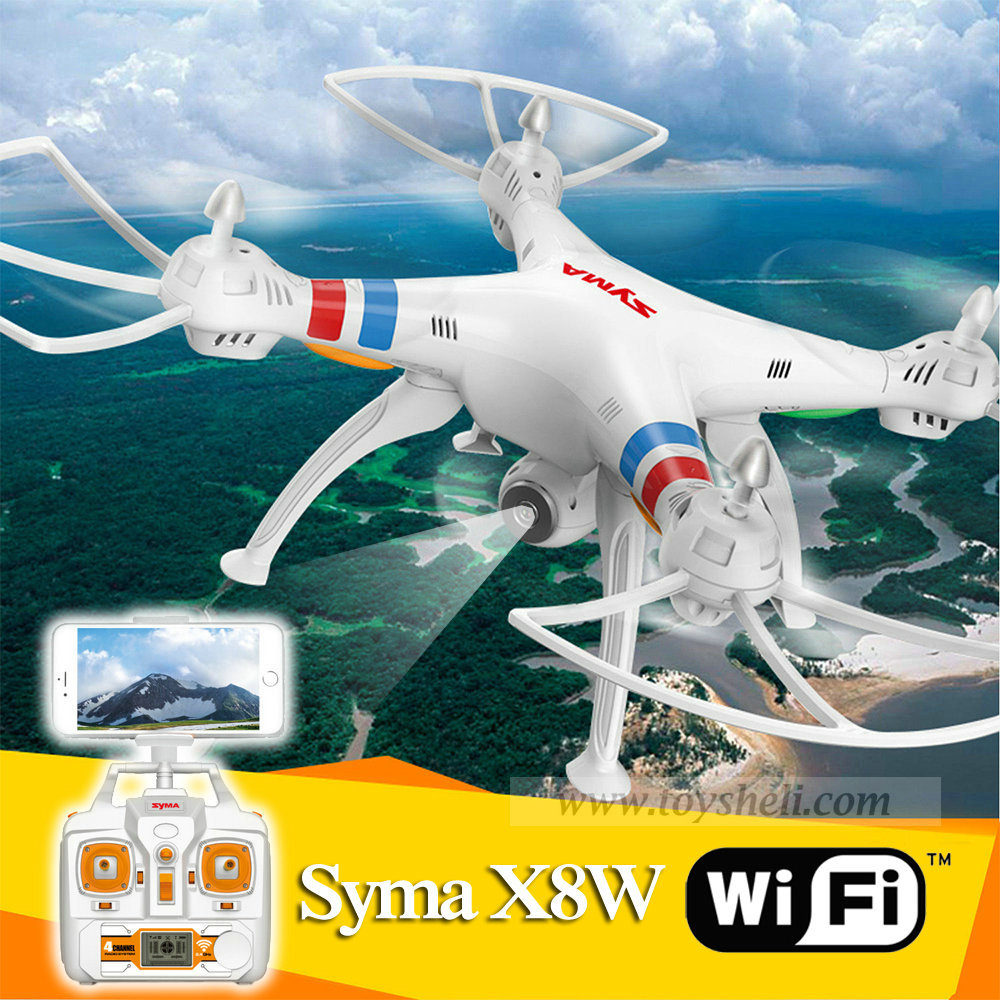 Syma X8w Wifi 2.4G 4ch 6 Axis with 2MP Wide Angle HD Camera RC Quadcopter RTF Helicopter Drone Go Pro Applicable image