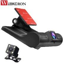 Продажа 4.0 дюймов Видеорегистраторы для автомобилей Камера Full HD 1080 P автомобиля Регистраторы Dashboard Cam автоматический Камера G Сенсор 3 объектива 170 dgreen объектива