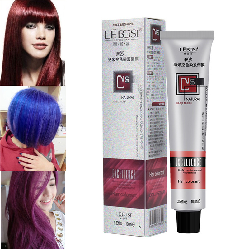 DIY Hair Tint Colorant Semi Permanent Long Lasing Hair Cream Color Dye Paint Nano Color Control Hair Color Cream For BarbershoP image